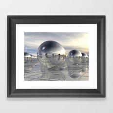 Reflecting 3D Spheres Framed Art Print