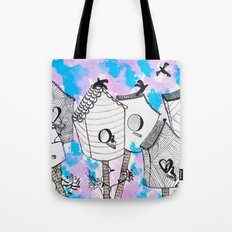 Bird houses  Tote Bag