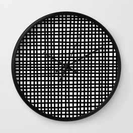 Black and White Gingham Wall Clock