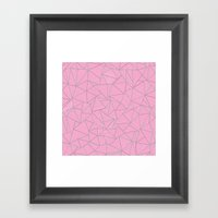 Ab Out Double Pink and Grey Framed Art Print