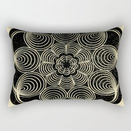 Antique Spiral Geometry Rectangular Pillow