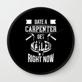 Carpenter And Carpenter Gift Idea Carpenter Wall Clock