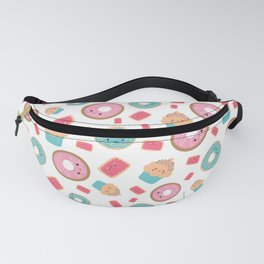 Sweets are Sweet White Cakes 6 Fanny Pack