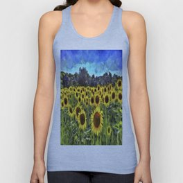 Sunflower Fields Of Dreams Van Goth Unisex Tank Top