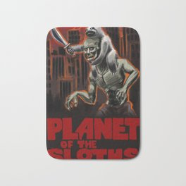 Planet Of The Sloths Bath Mat