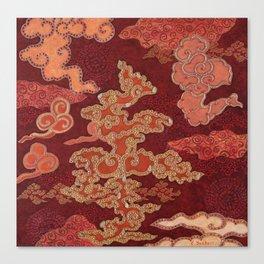 Crimson Clouds Canvas Print