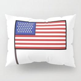 Pixel art USA flag steady Pillow Sham