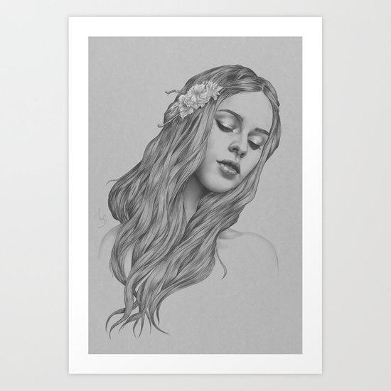 Patience - a digital drawing Art Print