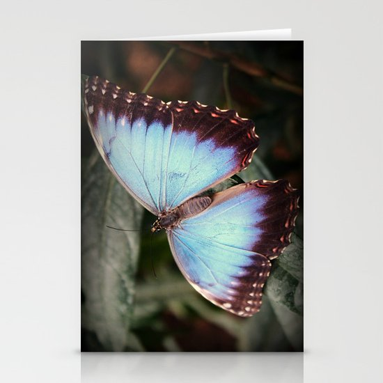 Blue Morpho - Wings Open Stationery Cards