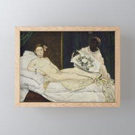 Olympia, Edouard Manet, 1863 Framed Mini Art Print