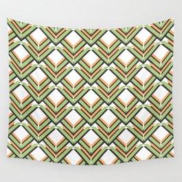 Orange & Green Pattern Wall Tapestry