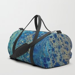 Blue and Gold Spiral Art Duffle Bag