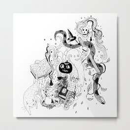 Witches Brew (Full Moon) Metal Print