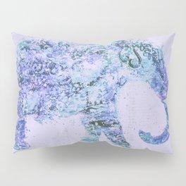 Blue Elephant Mixed Media Art Pillow Sham