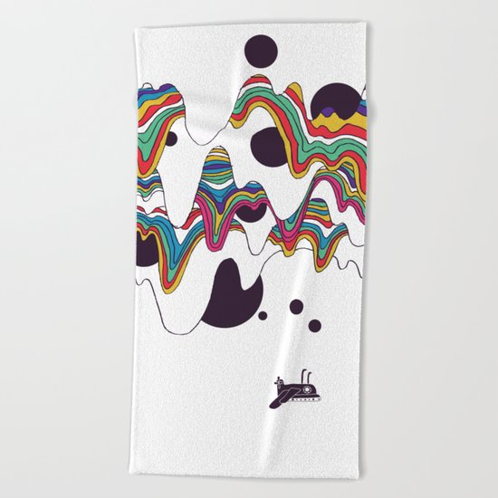 Psychedelic Planet Beach Towel