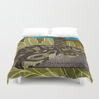thor Duvet Covers featuring Python - Thor by ArtLovePassion