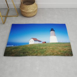The Point Judith Light is located on the west side of the entrance to Narragansett Bay Rug