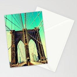 East river Brooklyn bridge Stationery Cards