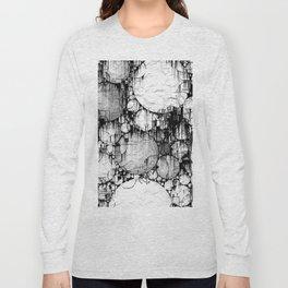 Glitch Black & White Circle abstract Long Sleeve T-shirt