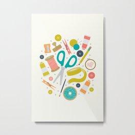Get Crafty Metal Print