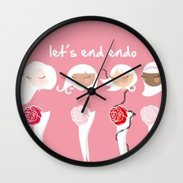 Let's End Endo Wall Clock