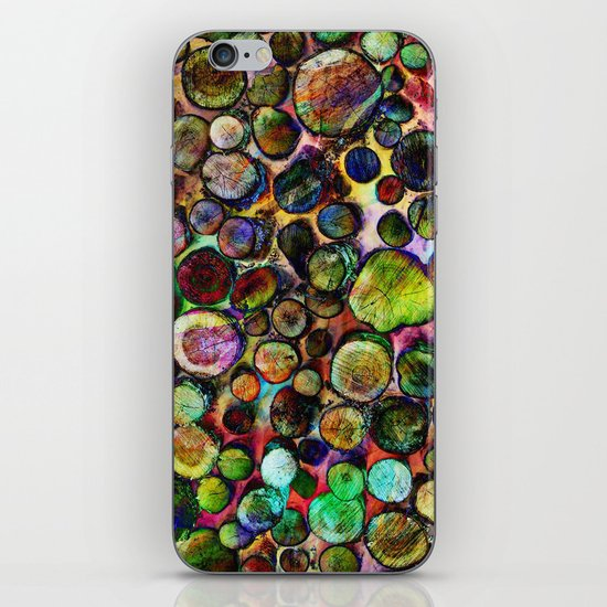 Colored Wood Pile 2 iPhone & iPod Skin