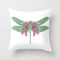 pattern with dragonflies 5 Throw Pillow