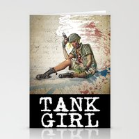 tank girl Stationery Cards featuring Tank Girl by Joe Badon