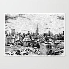 New York City - Fingerprint - Black ink Canvas Print