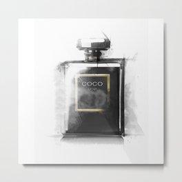 Perfume Bottle Noir Parfum Pop Art Fashion Metal Print