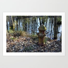 Camp Patrick Henry, Virginia - Fire Hydrant Art Print