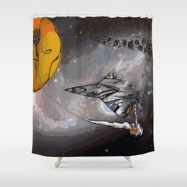 Stealth Bomber Simplified Shower Curtain