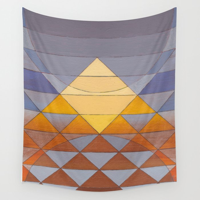 Pyramid Sun Mauve Purple Wall Tapestry