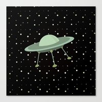 ufo Canvas Prints featuring UFO by Mr & Mrs Quirynen