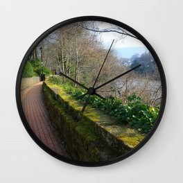 Road By The River Dee Wall Clock