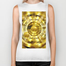 Abstract fantasy painting in gold. Biker Tank