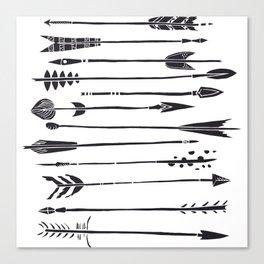 Narrow Boho Arrows Canvas Print