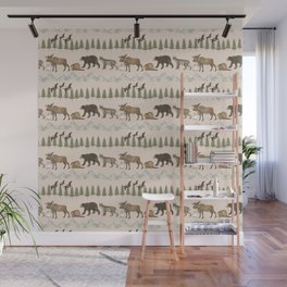 Canadian Wildlife stripes Wall Mural