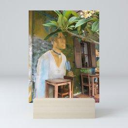 Woman in Green Mini Art Print