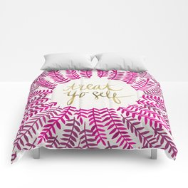 Treat Yo Self – Pink & Gold Comforters
