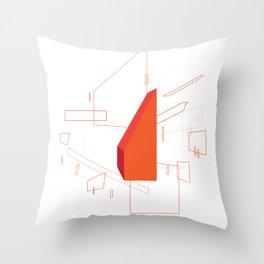 Blueprint #2 (red) Throw Pillow