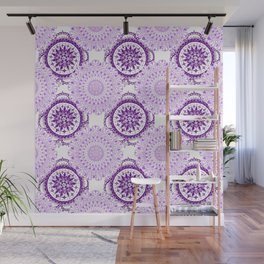 Purple Rhapsody Floral Mandalas Wall Mural