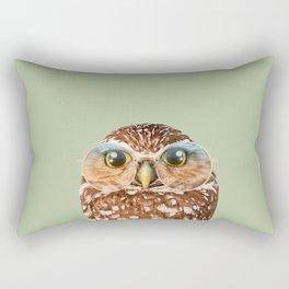 OWL WITH GLASSES Rectangular Pillow