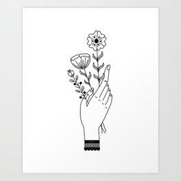 Flower Picking Art Print