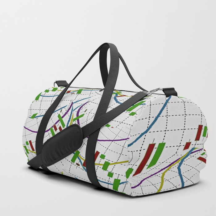 Abstract Forex Duffle Bag