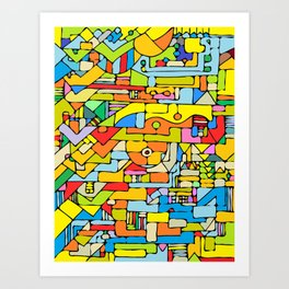 Color puzzle Art Print