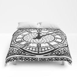 Big Ben, Clock Face, Intricate Vintage Timepiece Watch Comforters