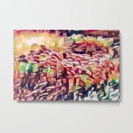 Abstract Floral Art Metal Print