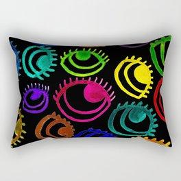 Dark Poppy Eyes Rectangular Pillow