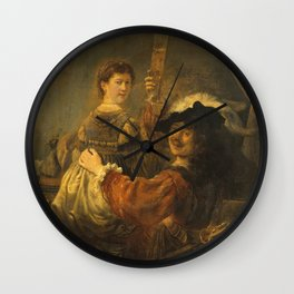 Rembrandt - Rembrandt And Saskia In The Scene Of The Prodigal Son. Wall Clock